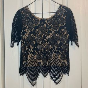 Black Lace Top - Express